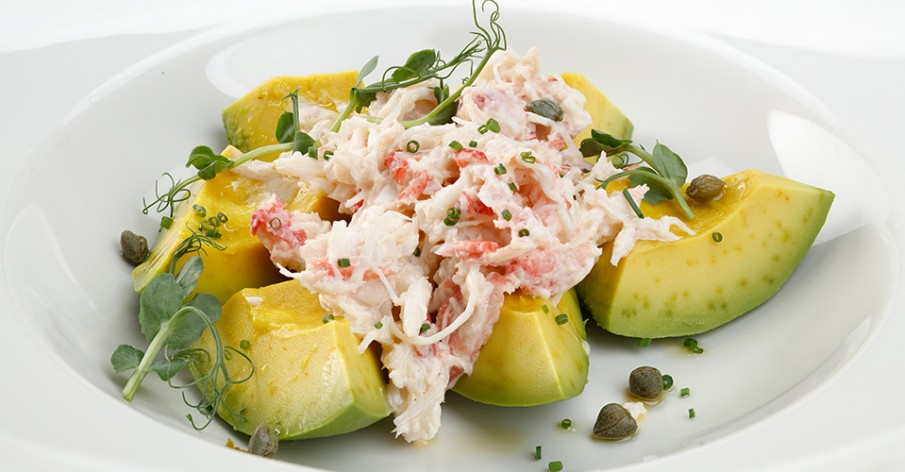 Avocado with crab